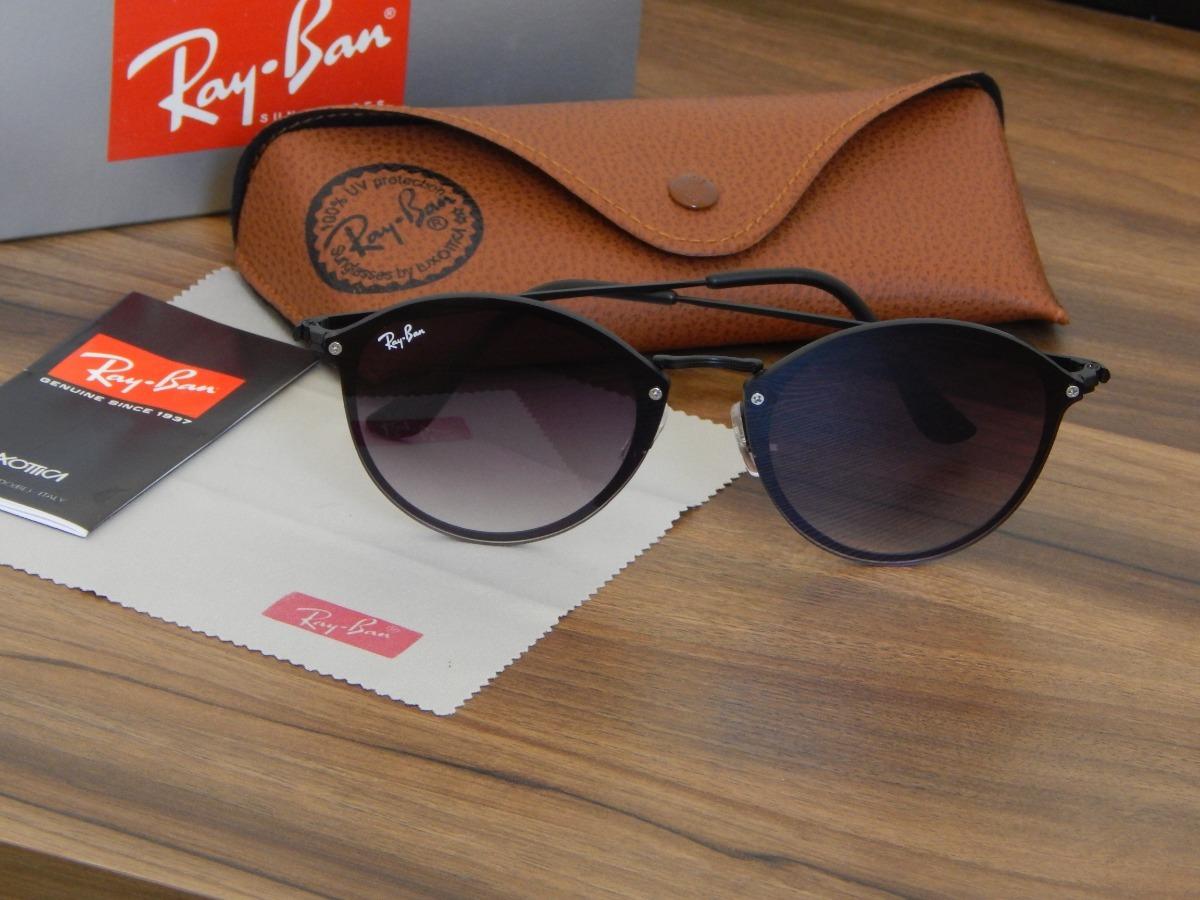 fca61d21e8 oculos ray-ban blaze round black. Carregando zoom.