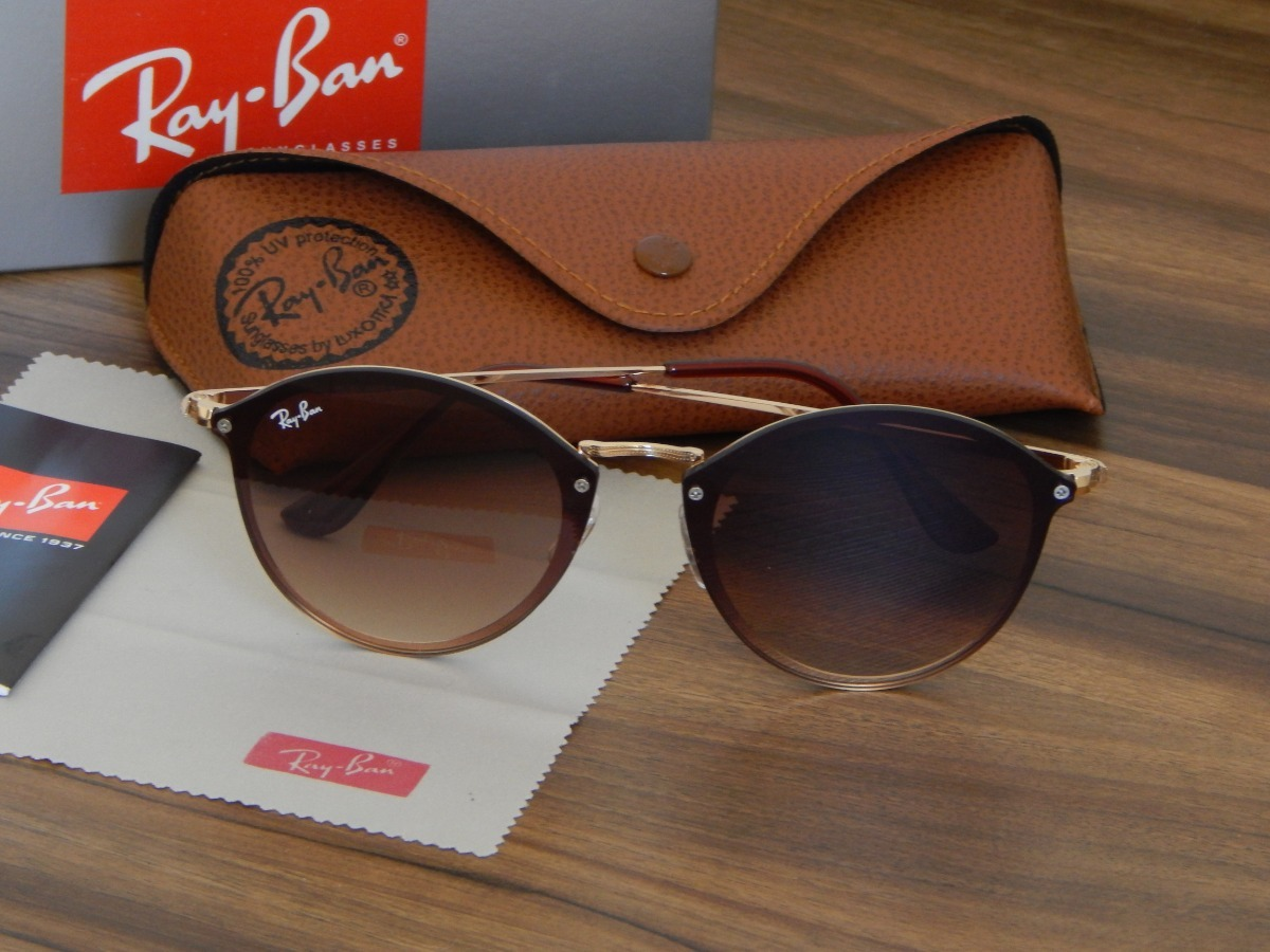 bfa38afcd06fd oculos ray-ban blaze round marrom. Carregando zoom.