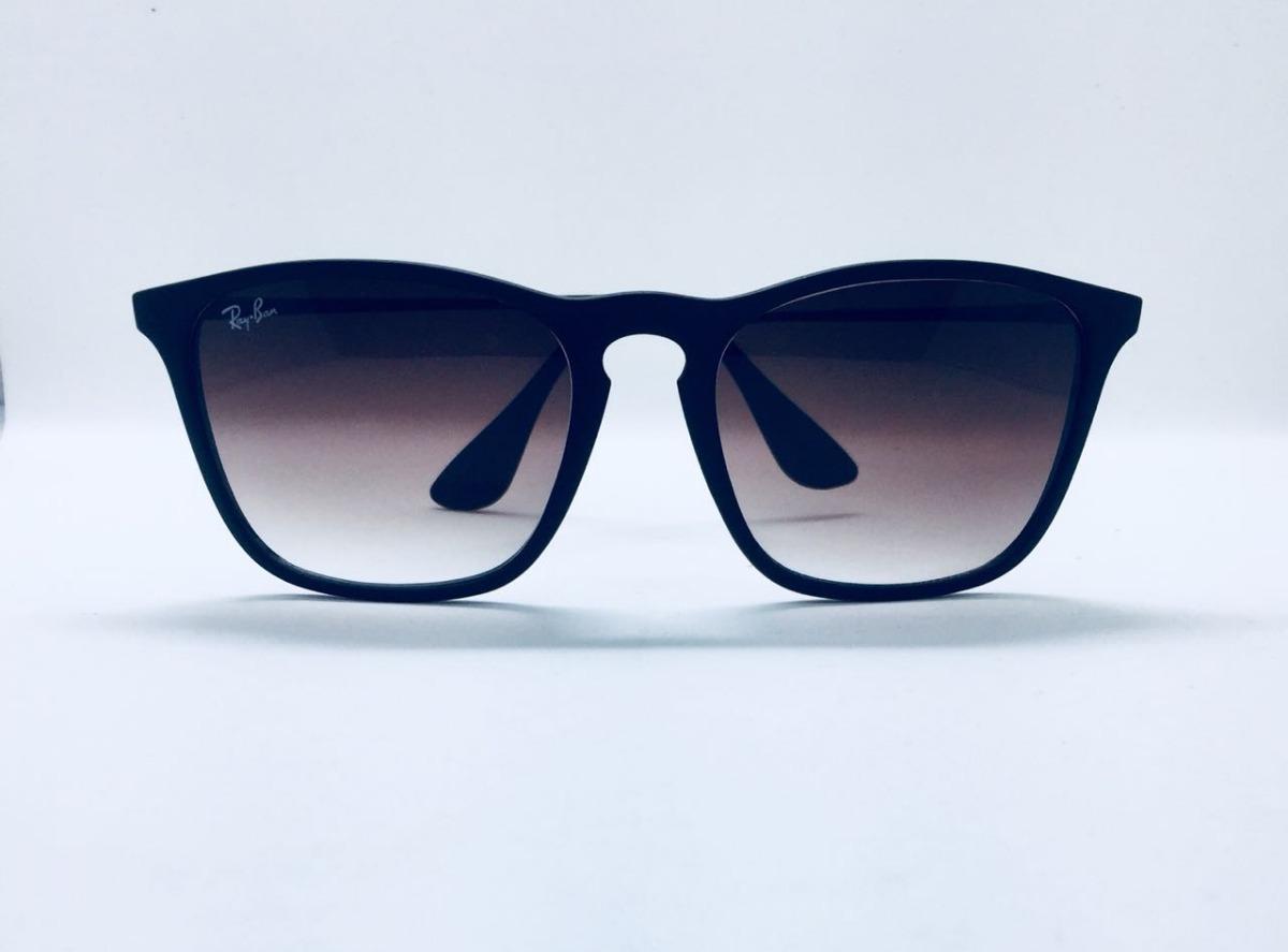 1d1854aa9 Óculos Ray Ban Chris Rb 4187 Preto Original Mais Brinde - R$ 220,00 em  Mercado Livre
