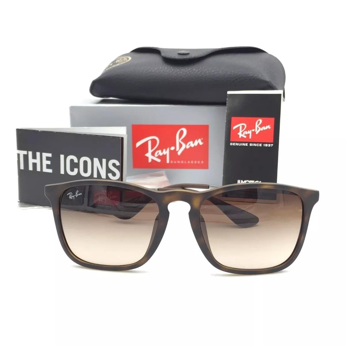 179aa759a629e óculos ray ban chris rb4187 original tartaruga black friday. Carregando zoom .