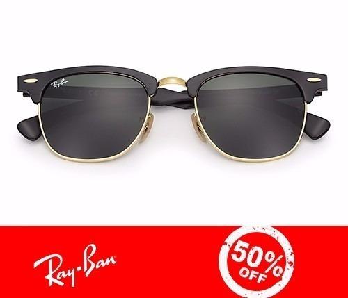 3997b2175853e Óculos Ray Ban Clubmaster Aluminium 3507 Preto 50%off - R  149,90 em ...