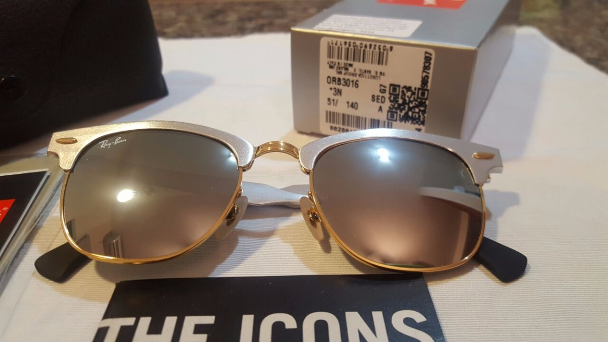 c95d3e1cf ... low price óculos ray ban clubmaster aluminium prata espelhado rb3507.  carregando zoom. ee441 395a8 ...