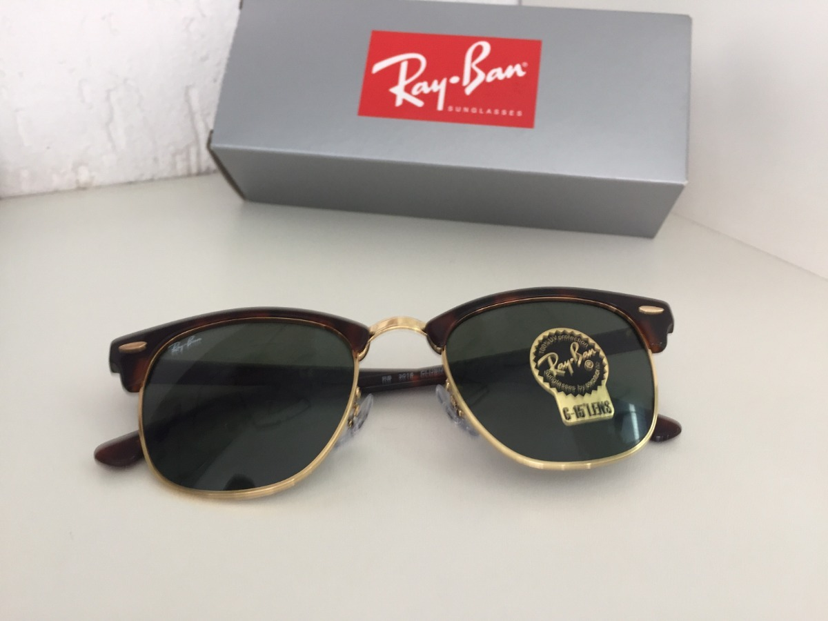 62e01c3e776f6 óculos ray ban clubmaster havana tartaruga original g-15. Carregando zoom.