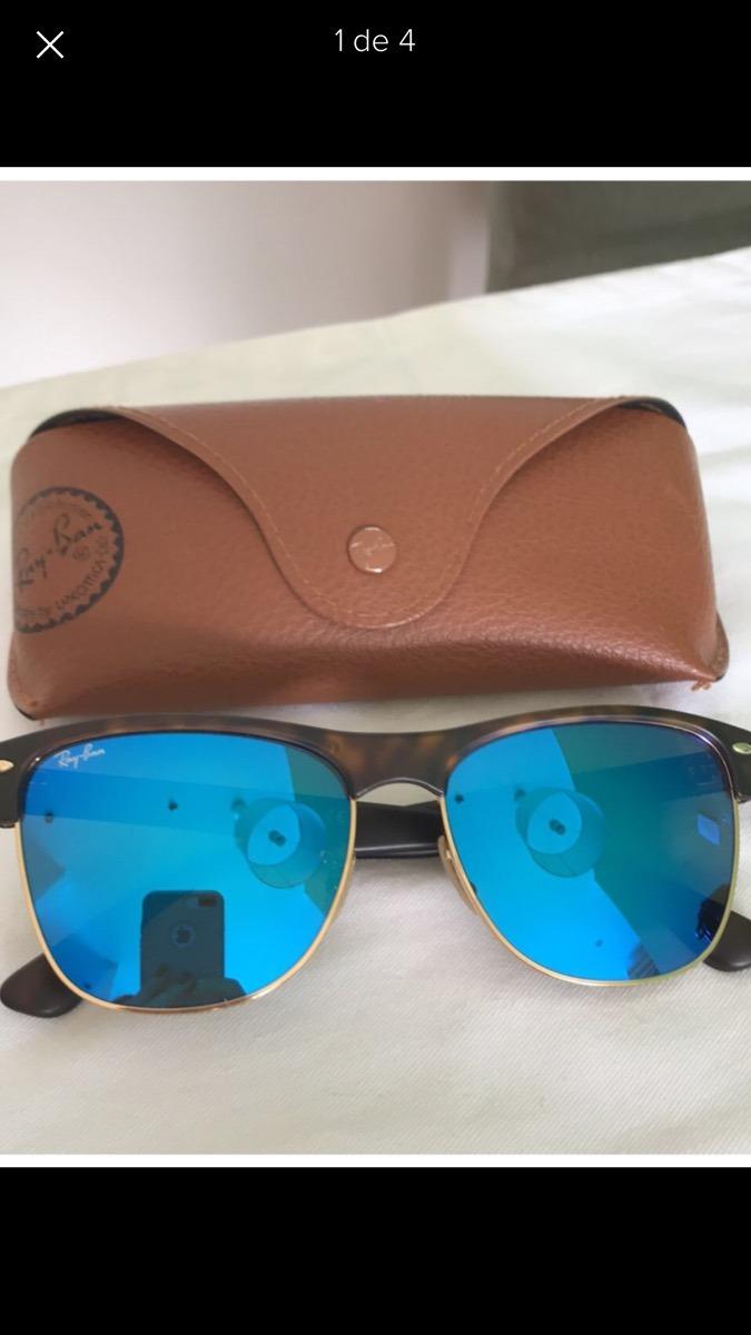 72a50d154 óculos ray ban clubmaster oversized azul espelhado tartaruga. Carregando  zoom.