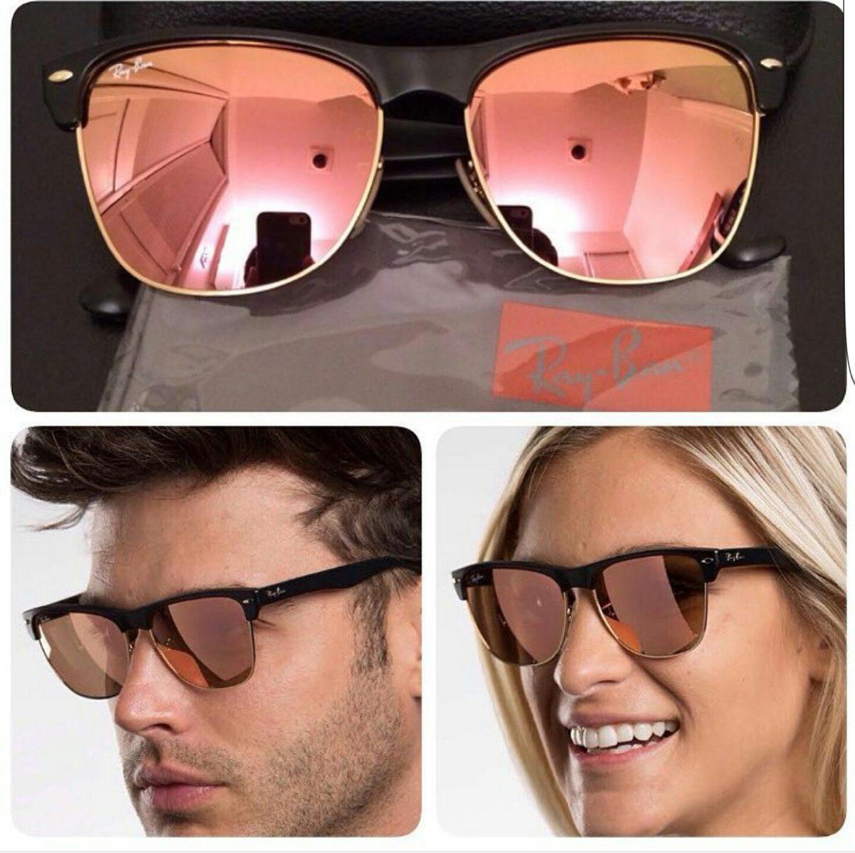 e0acfc6a3 óculos ray ban clubmaster oversized rosa feminino masculino. Carregando  zoom.