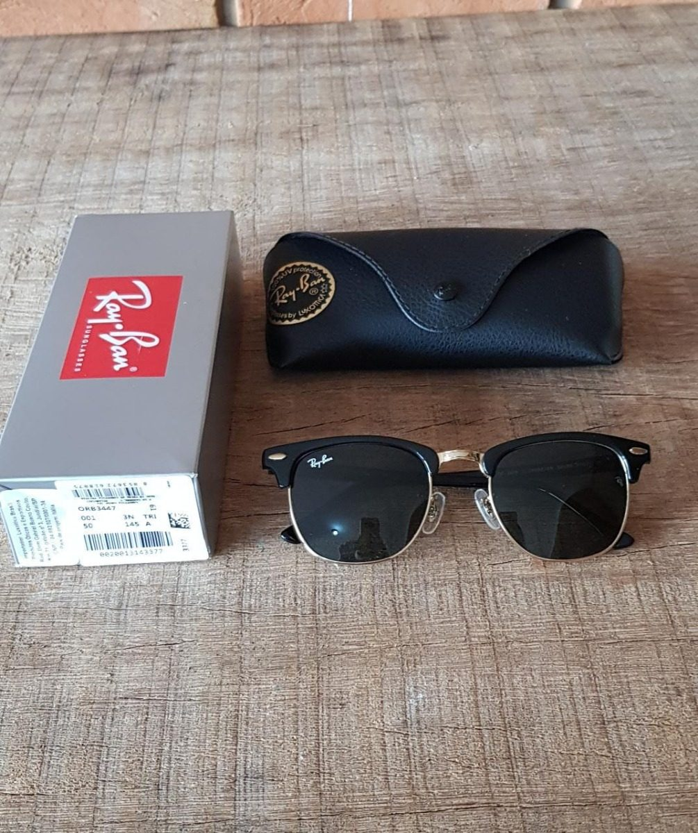 20234108bd16a ... shop óculos ray ban clubmaster rb3016 preto original black friday. carregando  zoom. 3d66e 2c372