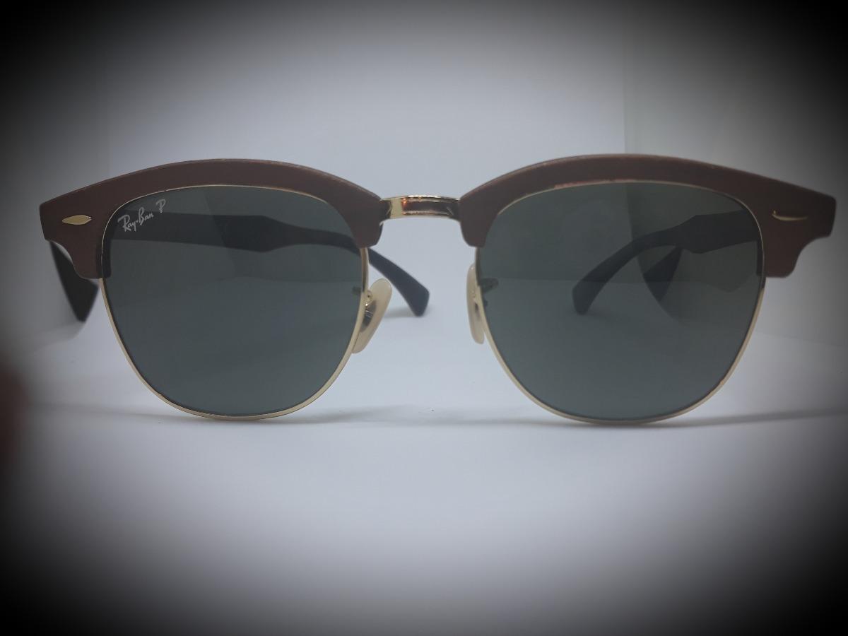 364fc509e2f80 óculos ray-ban clubmaster wood polarizado - original. Carregando zoom.