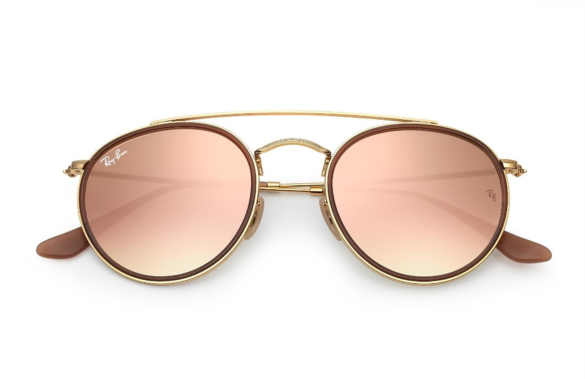 c307d477234f2 oculos ray ban double bridge rb3647 original feminino rosa. Carregando zoom.