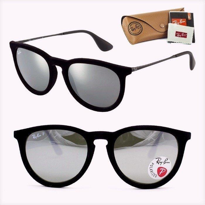 8f2d15005 Óculos Ray Ban Erica Sol Veludo Espelhado Uv Foto Original 0 - R ...