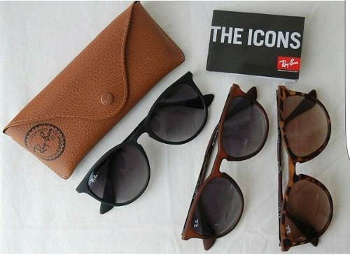 Óculos Ray Ban Erika Preto Degrade Fosco Original Rb4171 - R  279,00 ... 6846fbe361