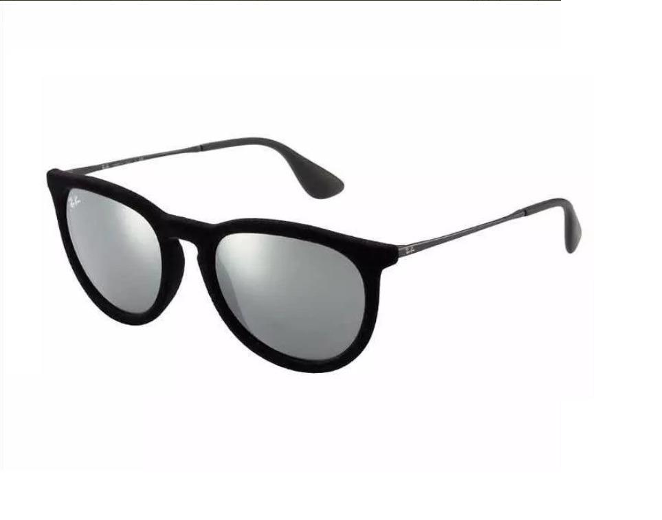 Óculos Ray Ban Erika Preto Veludo Espelhado Original - R  269,49 em ... 458b1f7bb9