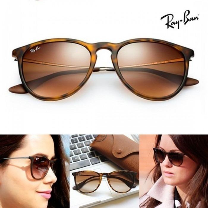 Óculos Ray Ban Erika Rb 4171 Tartaruga Original Mais Brinde - R  220 ... 22d3bc21b0