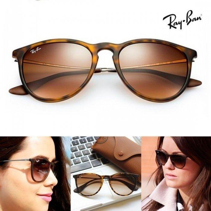 Óculos Ray Ban Feminino Erika Tartaruga Rb4171 Original - R  209,00 ... ed075a780a