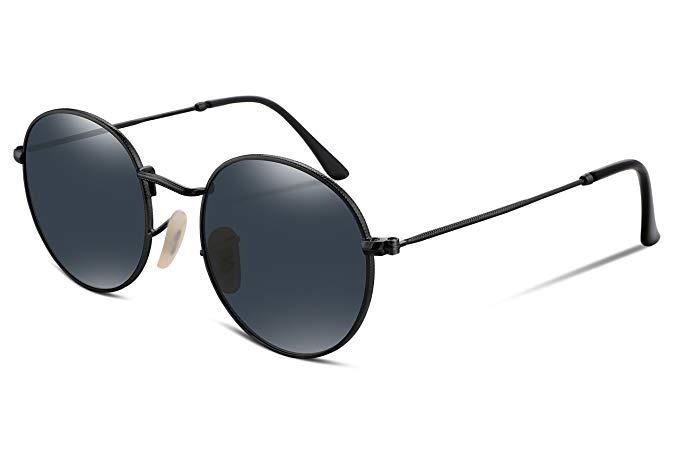 6bfaf8157 Óculos Ray-ban Feminino Masculino Rêtro Redondo Preto - R$ 19,98 em ...