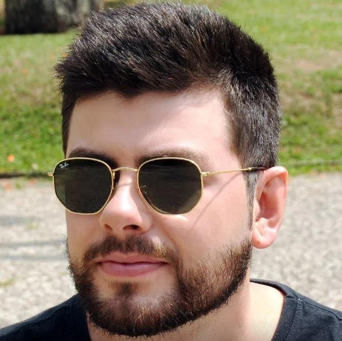 0e0fa01bc96e1 Óculos Ray Ban Hexagonal Dourado Unissex Rb3548 Original - R  269