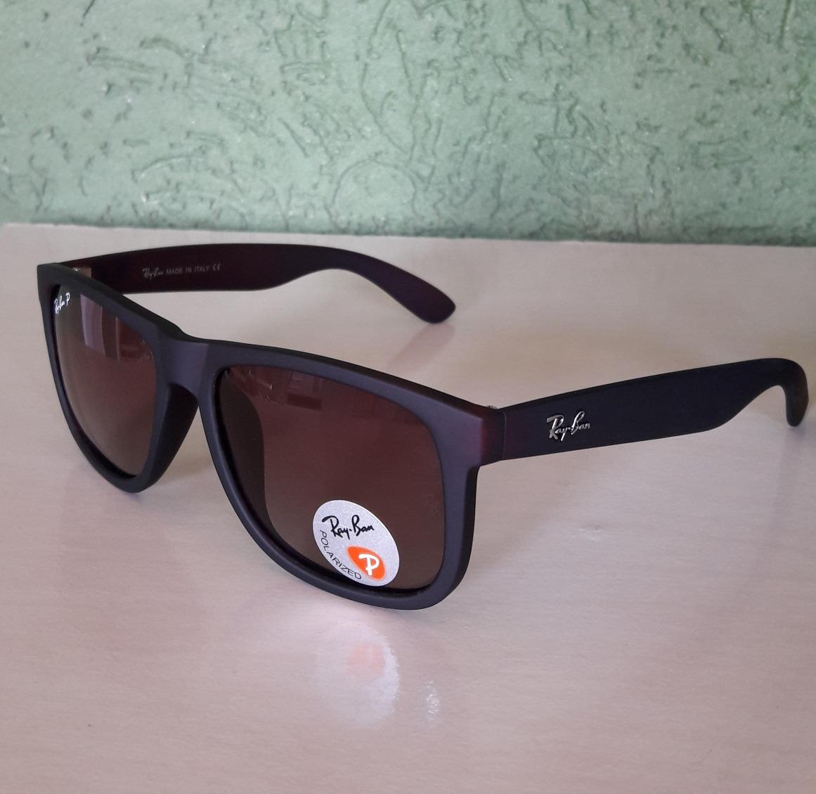 bd97c5d12 óculos ray ban justin marrom polarizado original importado. Carregando zoom.