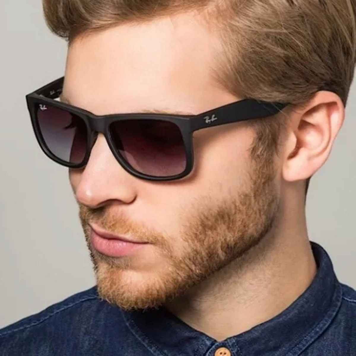 Oculos Ray Ban Justin Preto Degrade Orignal Rb4165 622 T3 Po