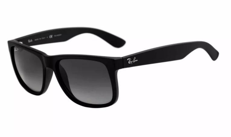 c48062d53 Óculos Ray Ban Justin Preto Fosco Lente Preto Rb 4165 Justin - R$ 59 ...