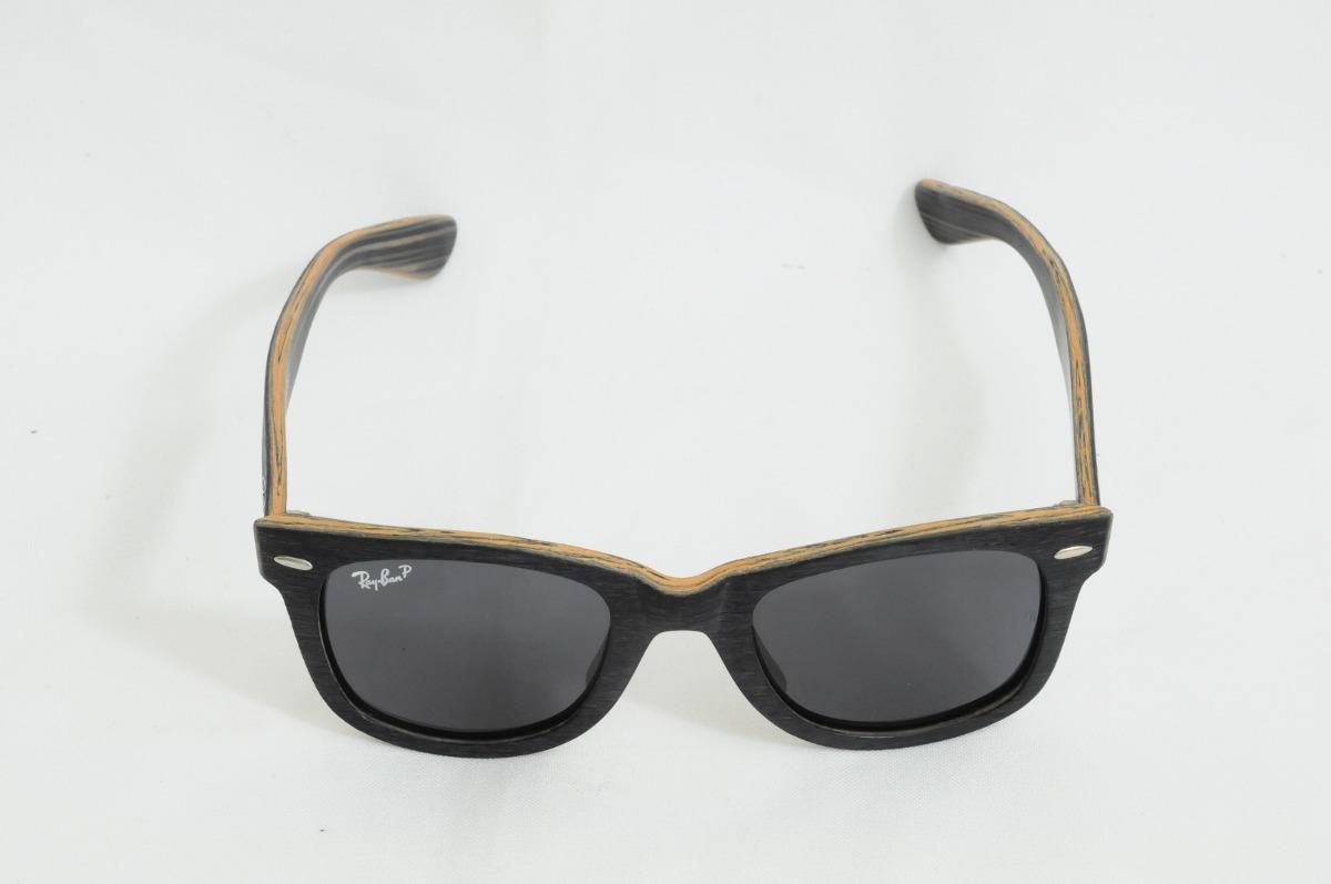 b32e0eebb óculos ray ban justin rb4165 armação madeira envelhecida. Carregando zoom.