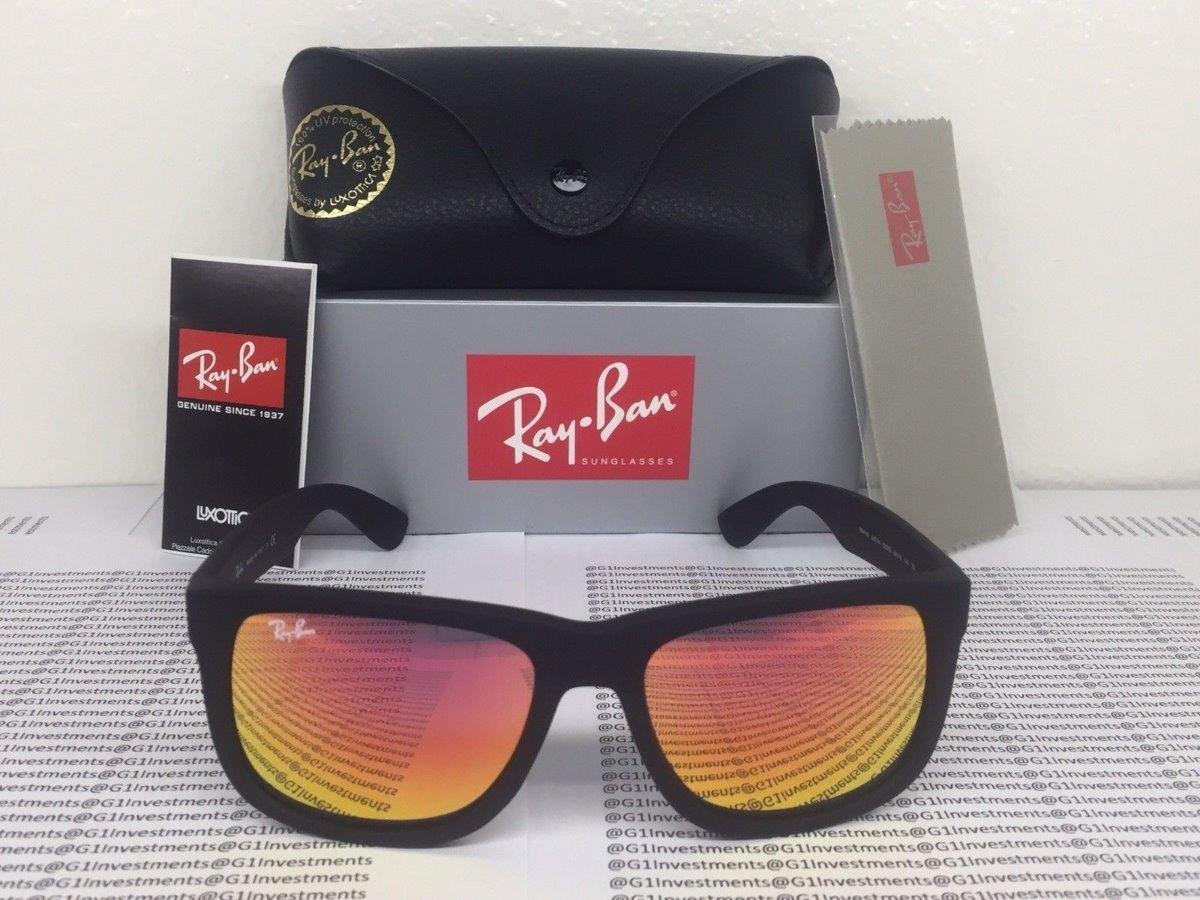d650d7c9f óculos ray-ban justin rb4165 laranja espelhado original. Carregando zoom.