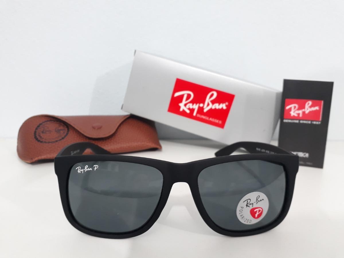 óculos ray ban justin rb4165 preto lançamento polarizado top. Carregando  zoom. 0a9b17b8e7