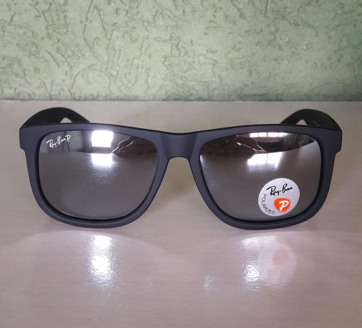 51abc74fd98d6 ... czech óculos ray ban justin4165 espelhado prata polarizado. carregando  zoom. be728 38a44