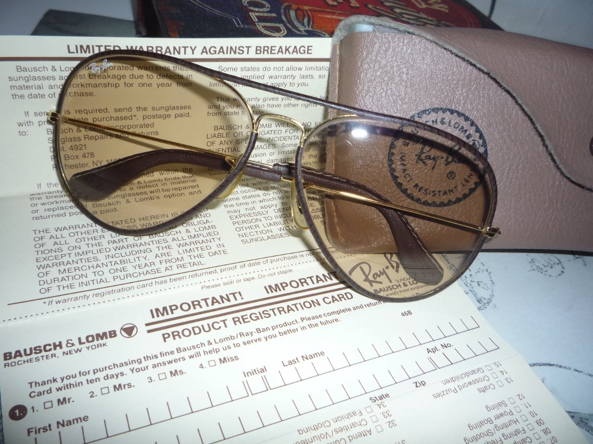óculos ray ban leather - lentes bausch lomb fotocromáticas. Carregando zoom. 11f77eef65