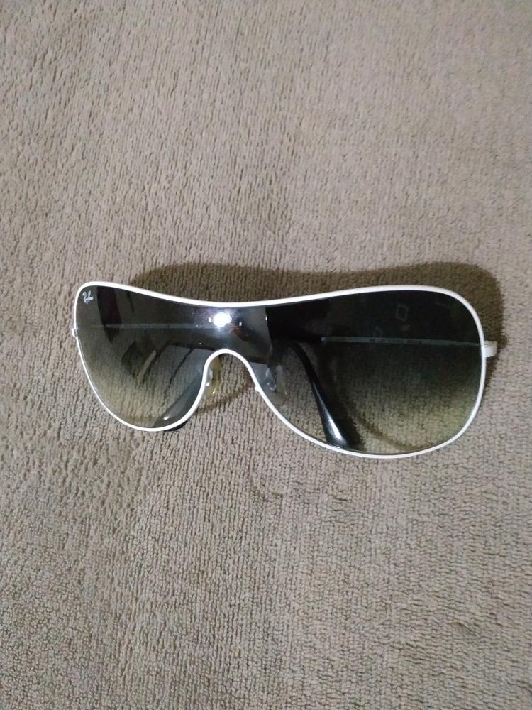 2b478448c15ed oculos ray ban máscara original 3211 032 86 medium branco. Carregando zoom.