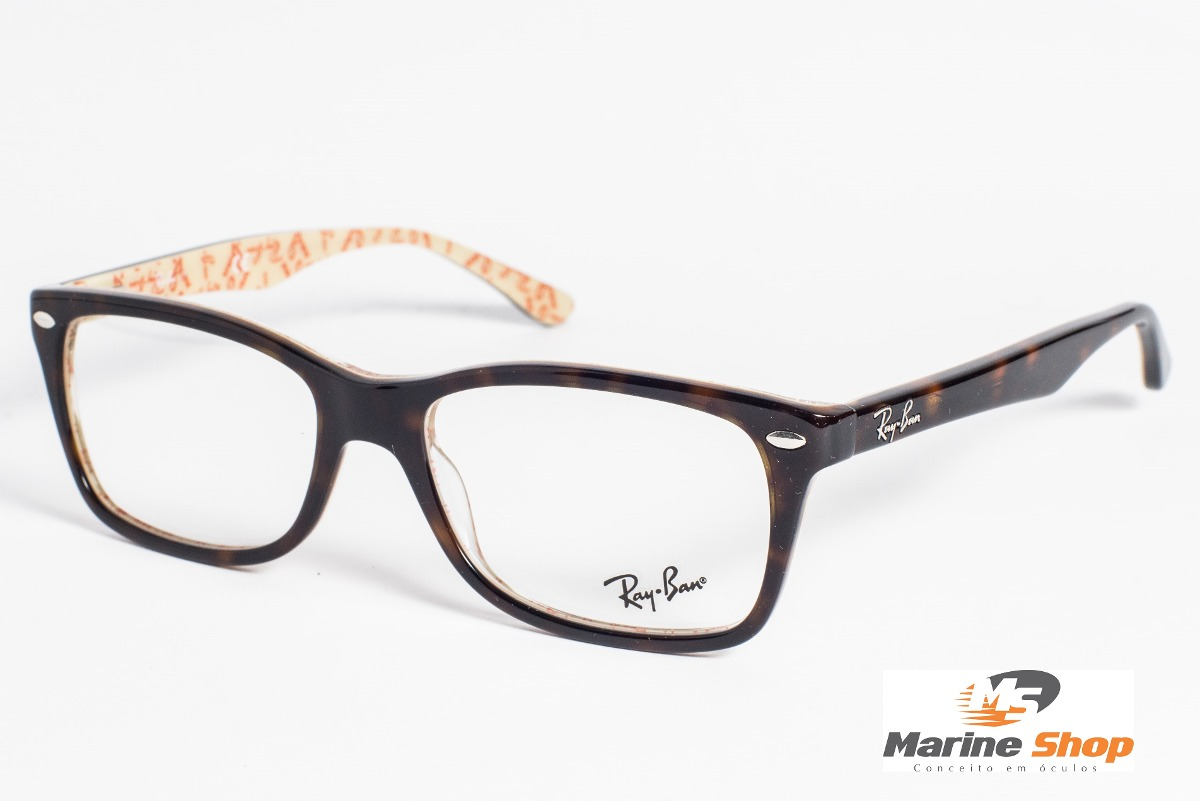 56fd0739e20be óculos ray-ban original acetato rb5228 marrom - p  grau. Carregando zoom.