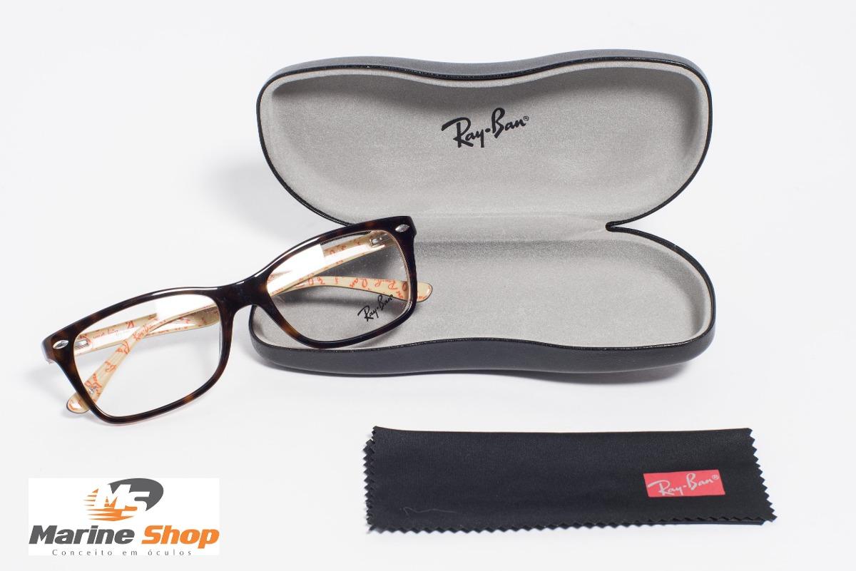 óculos ray-ban original acetato rb5228 marrom - p  grau. Carregando zoom. acdbeb3867