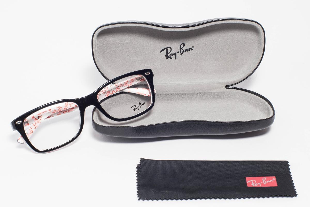 20917c400fa3f Óculos Ray-ban Original Acetato Rb5228 Preto - P  Grau - R  369