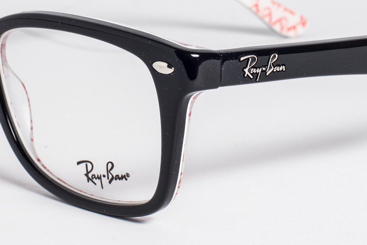 bd9475fc43298 óculos ray-ban original acetato rb5228 preto - p  grau. Carregando zoom.