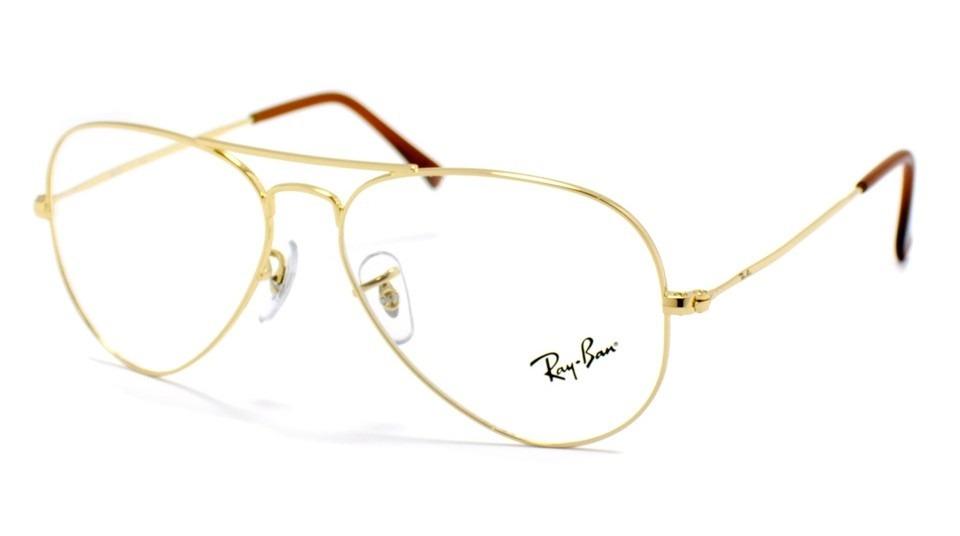 bd93858c917c0 óculos ray-ban original aviador rb6049 l dourado - p  grau. Carregando zoom.