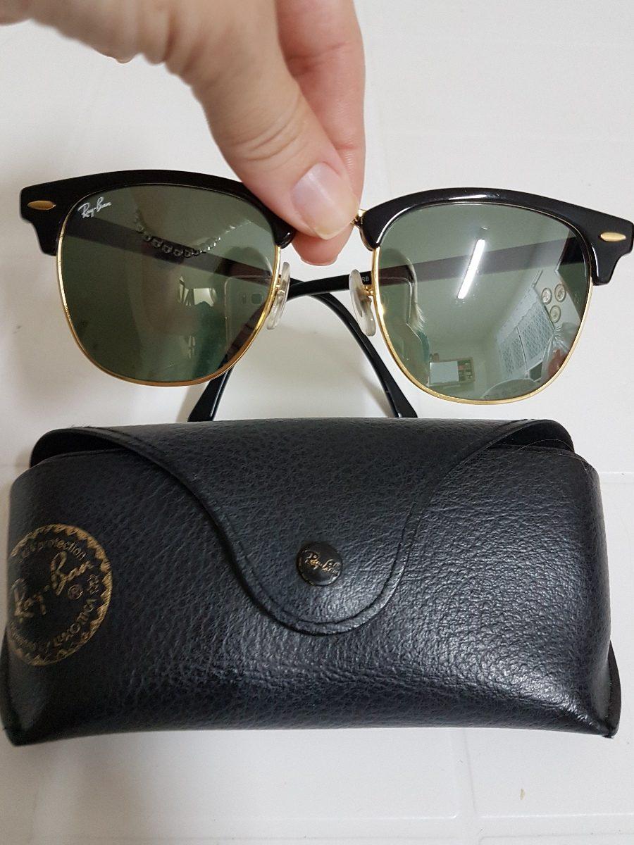 82a2944094a95 Óculos Ray Ban Original Clubmaster - Preto Espelhado - R  300,00 em ...