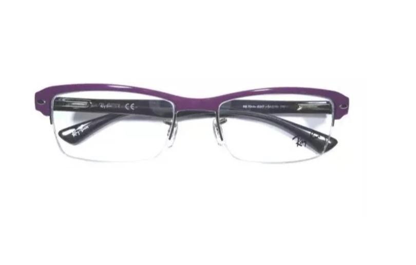 de8d2f5e5 óculos ray-ban original em acetato roxo - rb7014 - p/ grau. Carregando zoom.