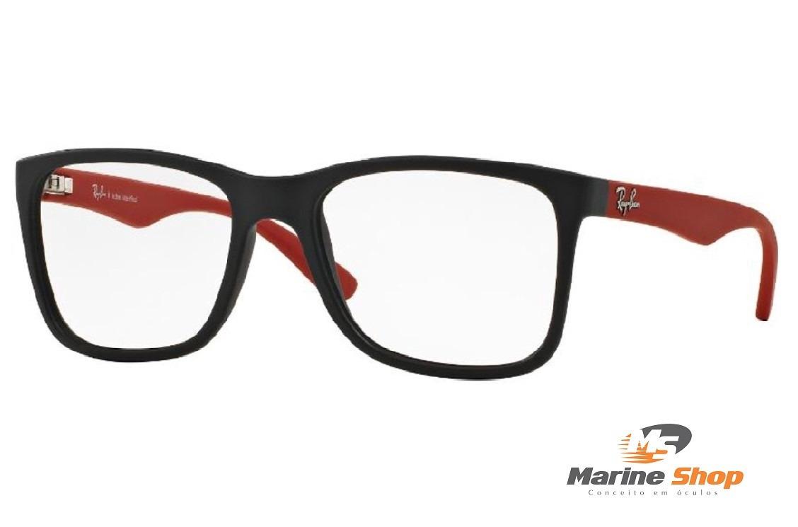 0c1b35377c4a1 óculos ray-ban original rb7057 l justin grau haste vermelha. Carregando  zoom.