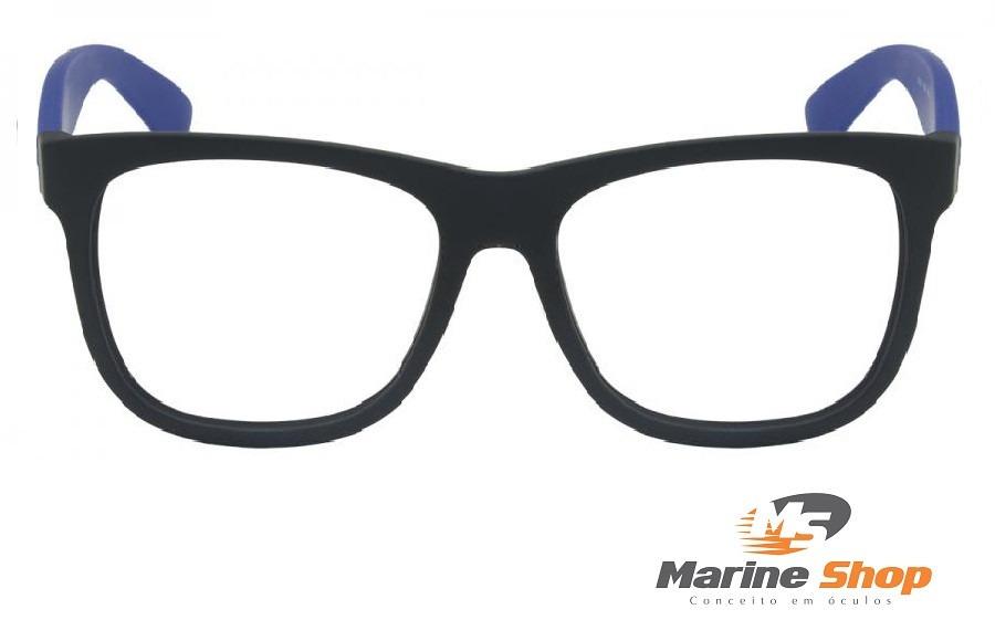 45a0f7892c3a4 óculos ray-ban original rb7057 l - justin p  grau haste azul. Carregando  zoom.