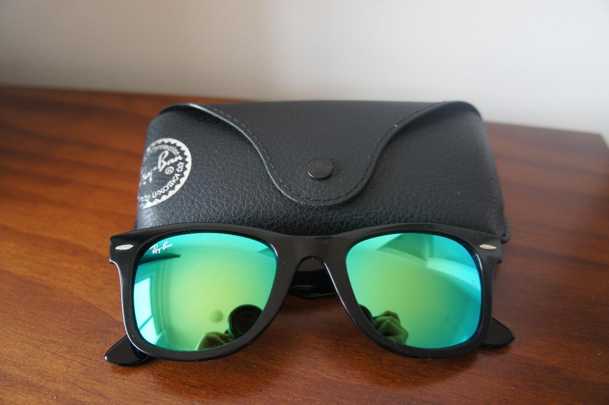 óculos ray ban original wayfarer lente verde espelhada. Carregando zoom. 30588a7675