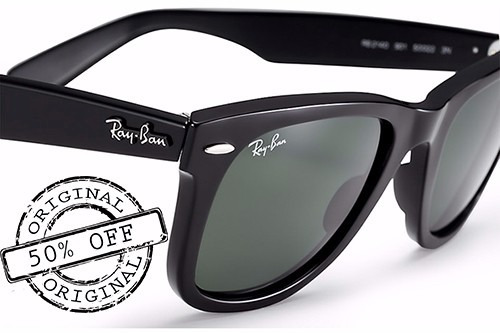 oculos ray ban rb2140 wayfarer original preto envio em 24h