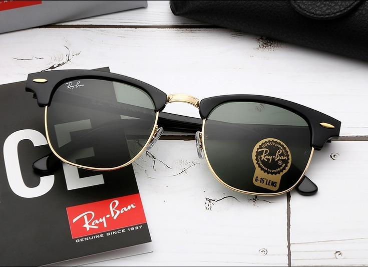 Oculos Ray Ban Rb3016 Clubmaster Preto Classic Feminino Masc - R ... 799d183b79