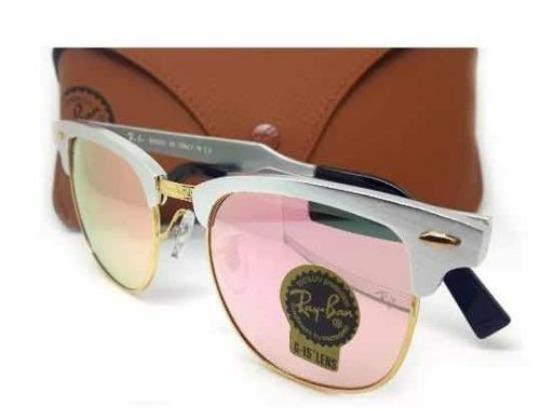 9fc6fbbce Óculos Ray-ban Rb3016 Rose Espelhado Clubmaster Promocao - R$ 175,90 ...