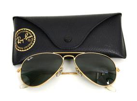 99eb7a609 Ray Ban Aviador Cor Dourado Verde Escuro - Óculos De Sol no Mercado ...