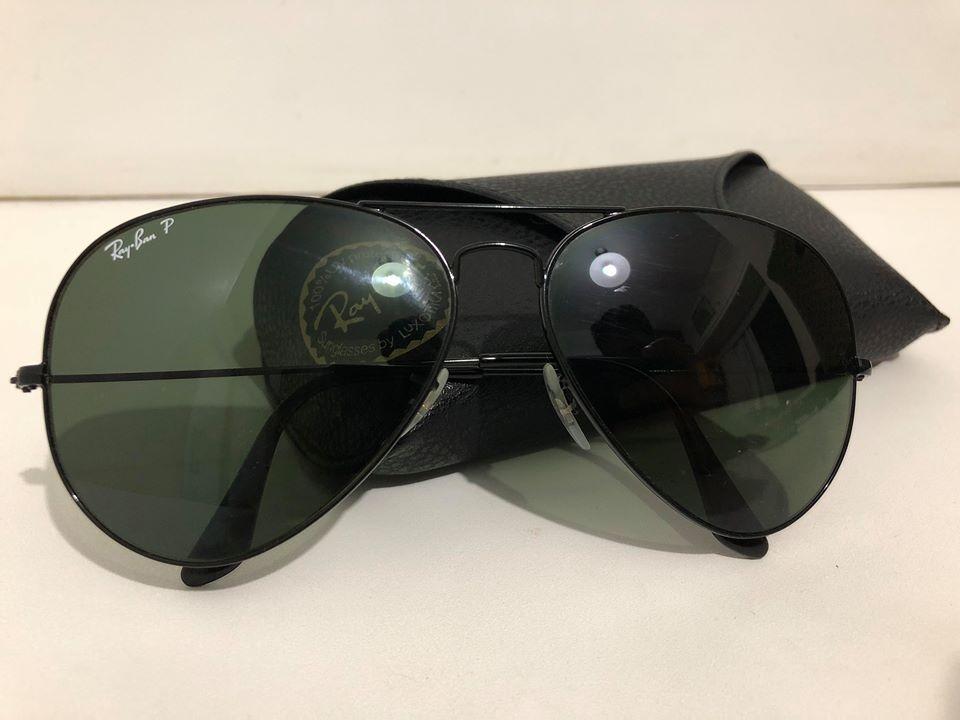 óculos ray-ban rb3025 aviator preto polarizado original. Carregando zoom. 3f81b260be