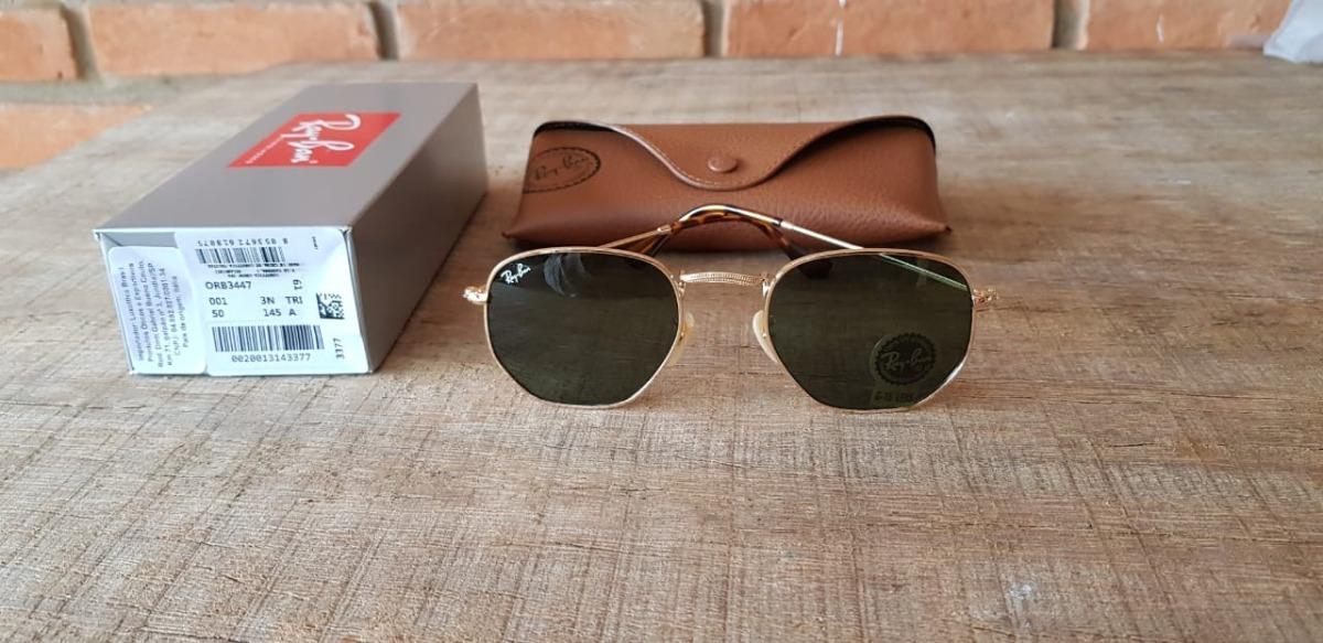 acadba15e6ba2 Óculos Ray-ban Rb3548 Hexagonal G15 51 - R  350,00 em Mercado Livre