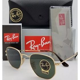 d9468d3920984 Ray Ban Hexagonal Dourado   Lentes Verdes Rb3548 Original - R  309 ...