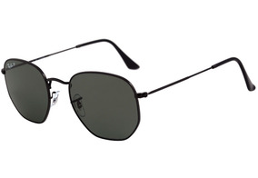 5caab3777 Óculos De Sol Ray Ban Rb3548 Hexagonal Preto Vidro - Óculos no Mercado  Livre Brasil