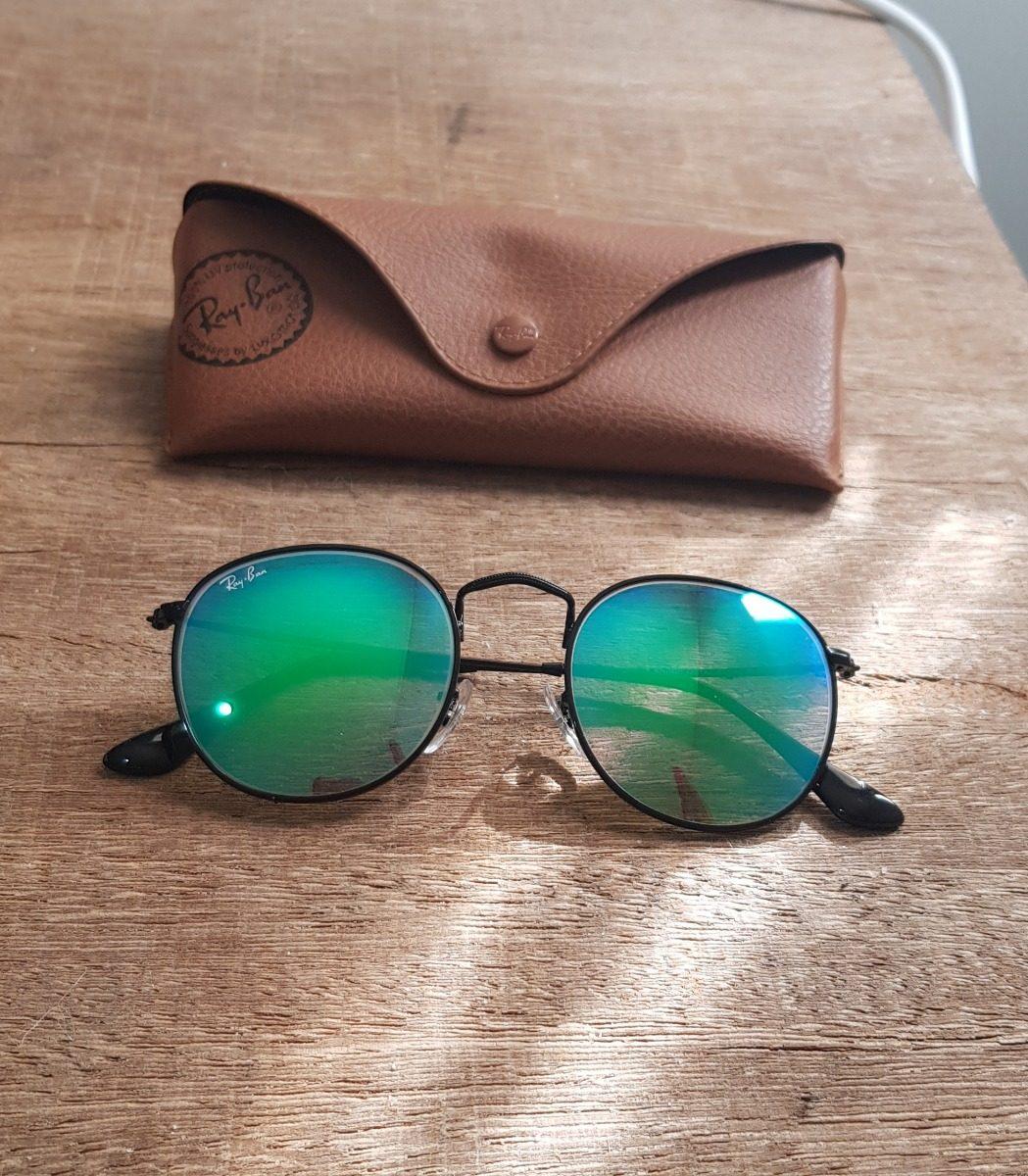 óculos ray-ban rb3574 round blaze e rb3447 verde espelhado. Carregando zoom. 92a51c3c26