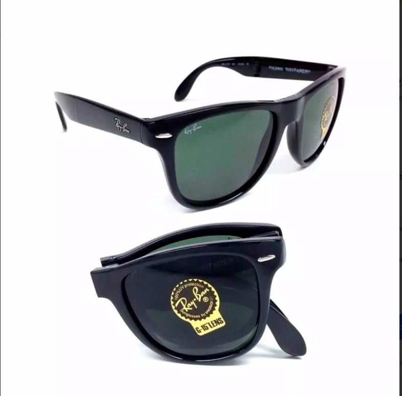 7fc2fe536 Óculos Ray-ban Rb4105 Wayfarer Folding Original Preto Verde - R$ 192 ...