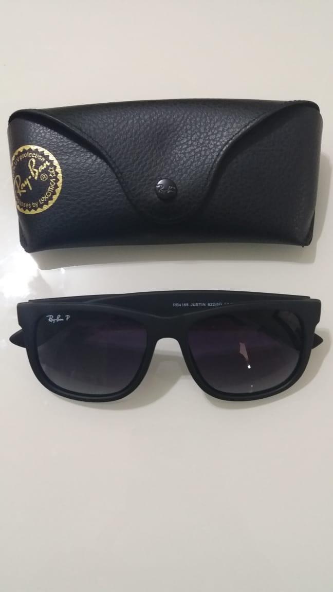 7610e8b9bd3a0 Óculos Ray-ban Rb4165 Justin Preto Degrade Black Friday - R  350