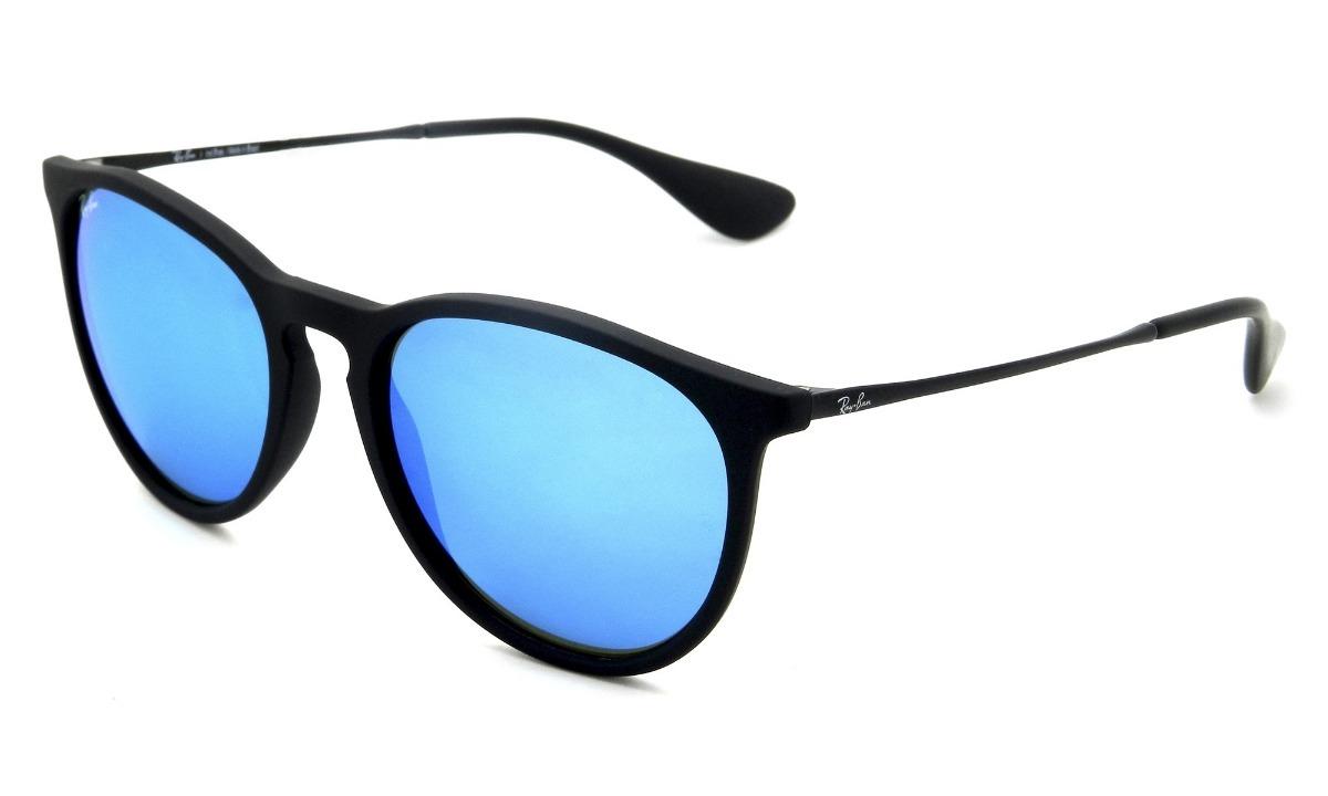 70d8c89fd óculos ray-ban rb4171 erika original preto azul espelhado. Carregando zoom.